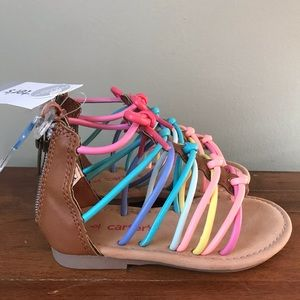 NWT Carter's Rainbow sandals